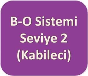 B-O Sistemi [Mor] Seviye İki (Kabileci)