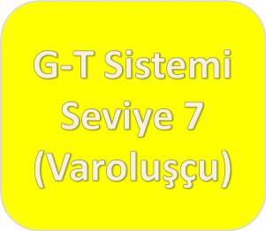 G-T Sistemi [Sarı] Seviye Yedi (Varoluşçu/Sistemik)